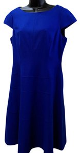 Anne Klein Cap Sleeves Fit & Flare Dress