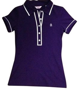Original Penguin by Munsingwear Polo Polo Shirt Skater Tomboy Tom Boy Button Down Shirt Purple