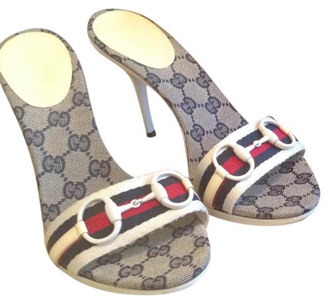 Item - Multicolor Horsebit Red White and Blue with The Symbol Formal Shoes Size US 9.5 Regular (M, B)