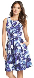 Eliza J short dress Blue Multi Sale Wedding Guest on Tradesy