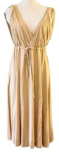 BCBGMAXAZRIA short dress gold on Tradesy