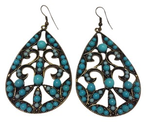 Bold Tear Drop Turquoise Earrings