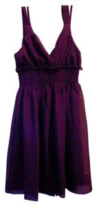 Johnny Martin Ruffle Lined V Neck Dress