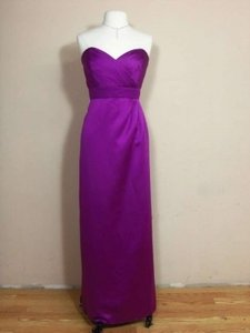 Alfred Angelo Violet Satin 7132 Formal Bridesmaid/Mob Dress Size 14 (L)