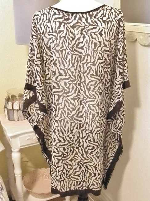 Lands' End New Lands End Plus Size 20 22 24 Sheer Animal Print Cover Up Tunic