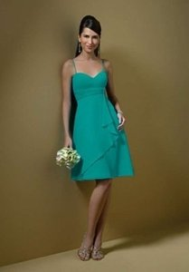 Alfred Angelo Jade Chiffon 7045 Formal Bridesmaid/Mob Dress Size 12 (L)