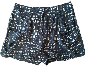 J.Crew Silk Batik Dress Shorts Gray and off white print