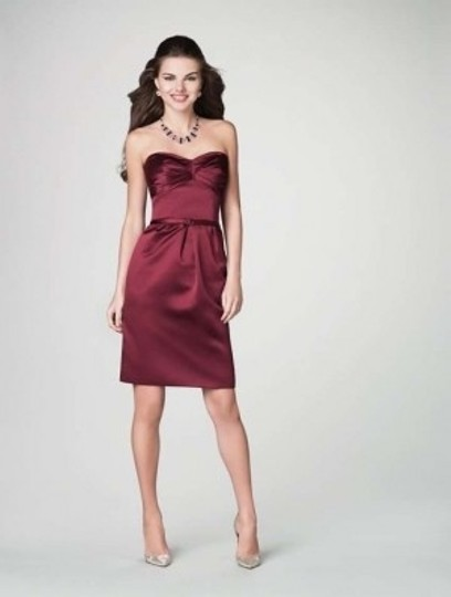 Alfred Angelo Mahogany Satin 7200 Formal Bridesmaid/Mob Dress Size 8 (M)