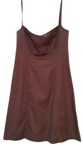 J.Crew short dress Brown Crew Sun Lined Preppy on Tradesy