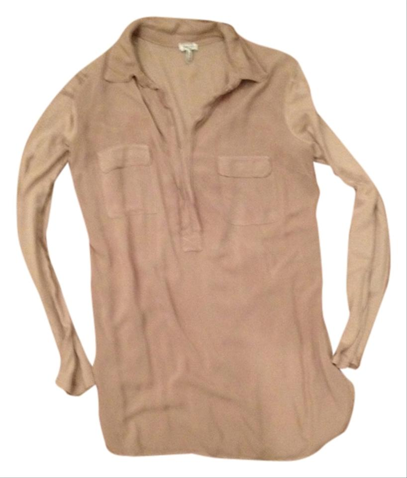 327a187323 Splendid Taupe Ca 56266 Rn 92874 Blouse Size 4 (S) - Tradesy