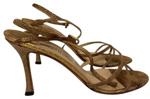 Manolo Blahnik Bronze Formal