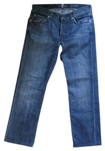 7 For All Mankind Denim Distressed Boot Cut Jeans-Distressed
