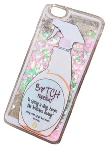 New B*tch Repellent Theme Floating Glitter IPhone Case 6, 6s, 6 plus, 6s plus