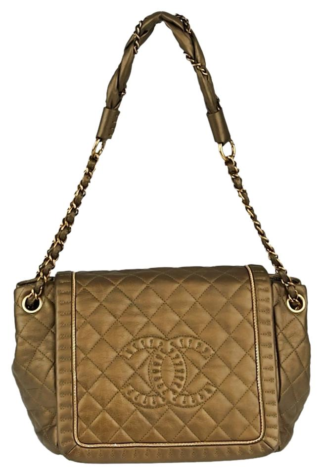 Chanel Classic Flap Gold Quilted Leather Istanbul Shoulder Bag - Tradesy ac0e343cfe003
