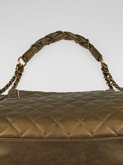 Chanel Gold Quilted Leather Istanbul Flap Shoulder Bag