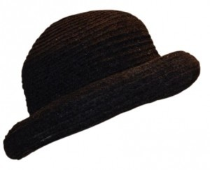 White House | Black Market Black Velveteen Hat with brim