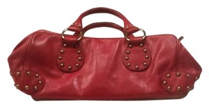 kooba Studded Leather Satchel in Pink