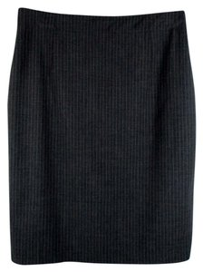 Banana Republic Pencil Pinstripe Wool Skirt Gray Pinstripe