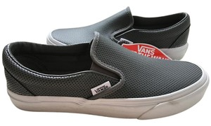 Vans Slip On Perforated Leather Grey Athletic