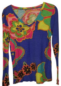 9ef6d087a16bc8 Lilly Pulitzer T Shirt Royal blue, hot pink, yellow, lime green, brown