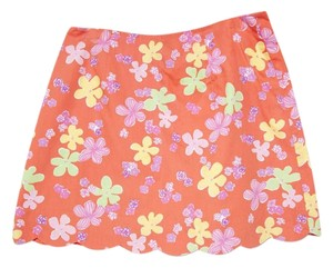Lilly Pulitzer Mini Skirt Orange