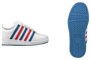 K-Swiss White, Red, Blue Athletic