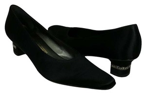 Salvatore Ferragamo Jeweled Heels Worn Once Elegant & Classy No Box Only Swarovski Crystals Black Pumps