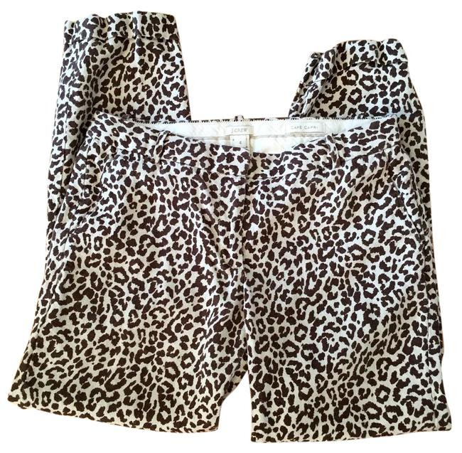 Item - Linen and Brown Safari Print Classic In Cat Pants Size 4 (S, 27)
