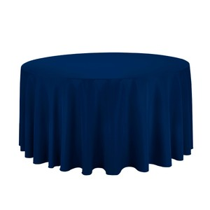 Navy Blue (14) 120 Inch Round Polyester Tablecloth