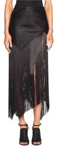 Proenza Schouler Fringe Basketweave Skirt BLACK