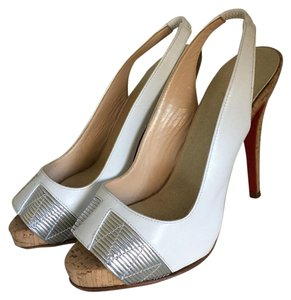 Christian Louboutin White/silver Pumps