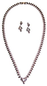 MONET 16 Inch Monet Silvertone Necklace and Earrings