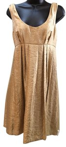 Vera Wang Metallic Scoop-neck Dress