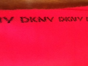 Dona Karan New York DKNY RED WOOL SCARF