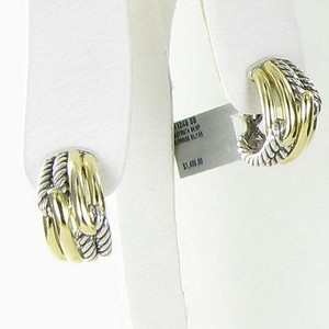 David Yurman David Yurman Earrings Labyrinth Double Loop Shrimp Huggie 18k Yg 925