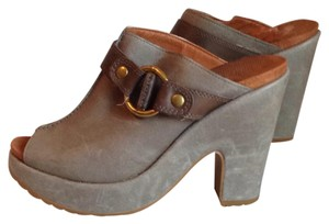 Lucky Brand Gray Mules