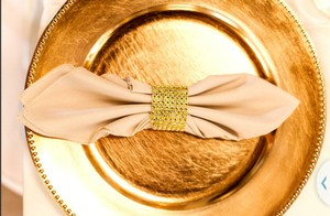 Gold Napkins Tableware
