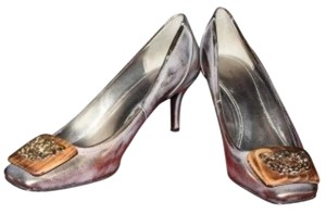 Elie Tahari Brushed Bronze Pumps