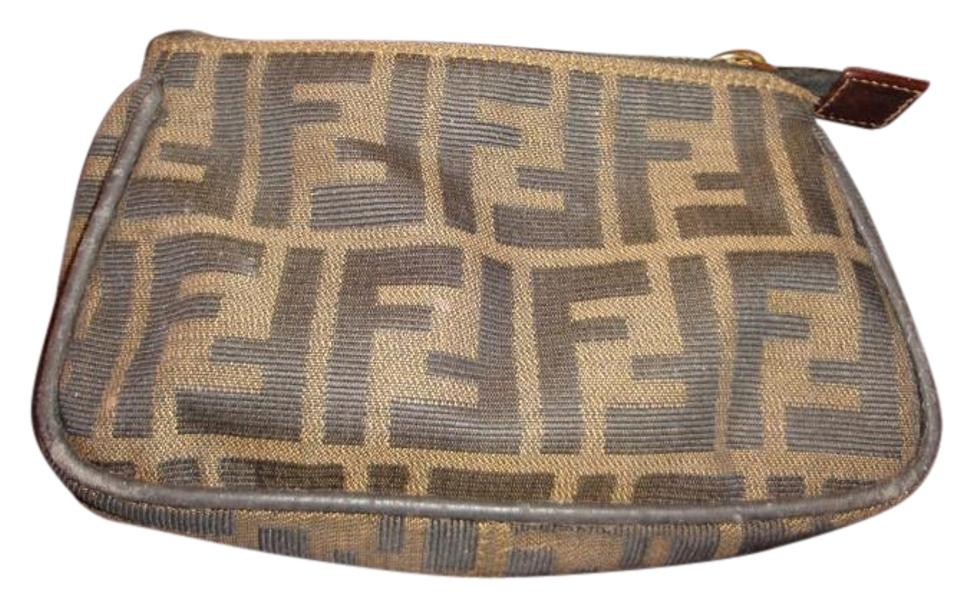 0a38d8276a35 Fendi Zucca Makeup Cosmetic Bag - Tradesy