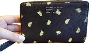 Marc Jacobs Lemon Wristlet in Black and yellow