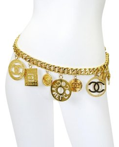 Chanel Vintage Chanel Big Charm Chunky Chain Belt Necklace Rare