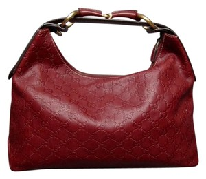 Gucci Bordeaux Flamme Horsebit Hobo Bag