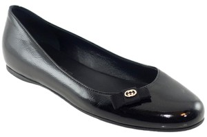 Gucci Patent Leather Flat 317039 Black Flats