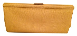 Banana Republic Date Night Leather Pebbled Leather Yellow Clutch