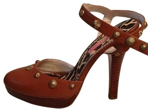 Betsey Johnson Tan Platforms