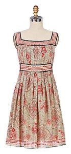 Anthropologie short dress Silk Textured Printed on Tradesy
