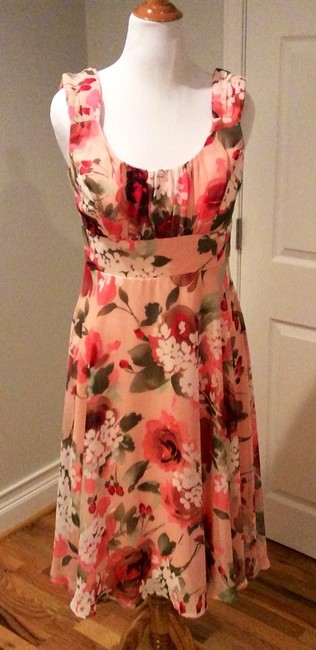 Dress Barn short dress Orange, Coral Multi on Tradesy