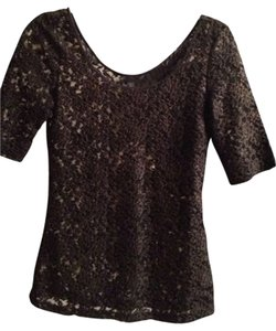 Banana Republic Top Black Lace