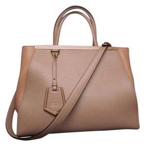 Fendi Vitelli 2jours Elite Satchel in Tan