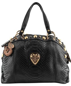 Gucci Leather Vintage Python Shoulder Bag